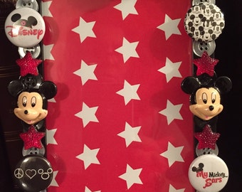 Mickey mouse button picture frame