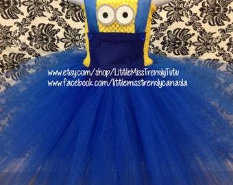 Minion Tutu Dress, Minion Inspired Tutu Dress, Minion Costume, Despicable Me Minion Tutu Dress, Minion Tutu, Toddler Minion Tutu Dress