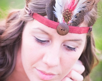 Nature Inspired Feather Crown