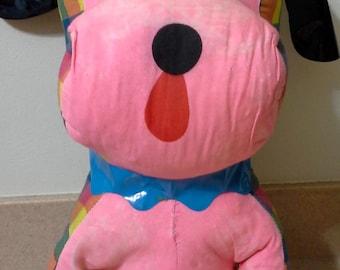 1960's Large Carnival Prize Stuffed Dog, Vintage Carnival Prizes, Retro Stuffed Animal Dog, Dog Stuffed Animal, Pink Dog, Carnival Toys, Dog
