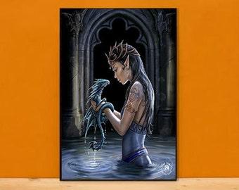 Dragon Pool 3D Lenticular Art Print or Framed 3D Art Print