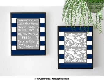 Kids Bathroom Art Quote Posters Kids Bathroom Decor Printable Art Kids Bathroom