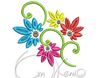MACHINE EMBROIDERY FILE - Flower