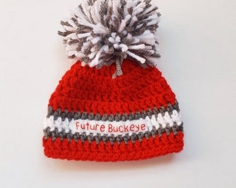 Ohio State Baby Hat, OSU Baby Hat, Buckeye Baby Hat, OSU Hat, Future Buckeye Hat, Ohio State, Scarlet and Gray, College Football