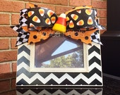 Halloween Chevron Frame, Harlequin Candy Corn Picture, Mackenzie Childs Home Decor, Polka Dots Decoration, Whimsical Holiday Photo