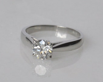 Scott Kay Platinum 0.96CT GIA Diamond Solitaire Engagement Ring