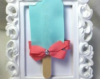 Aqua Popsicle Hair Clip