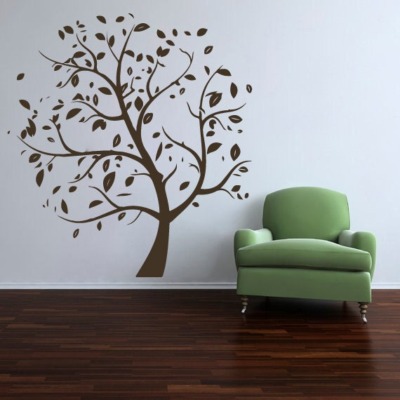 Nature Wall Decor Stickers : Items similar to wall decals nature leaves tree decal