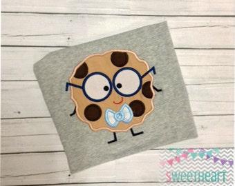 Smart Cookie Boy Applique Design, Back to School Applique, School Applique Embroidery Design 4x4 5x7 6x10 8x8