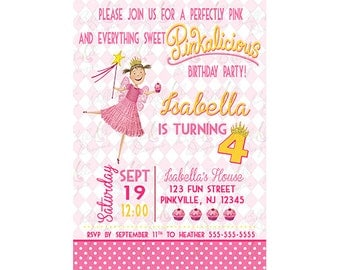 Printable Pinkalicious Birthday Invitation, Pinkalicious Birthday Party Invite, Personalized, Digital, Printable