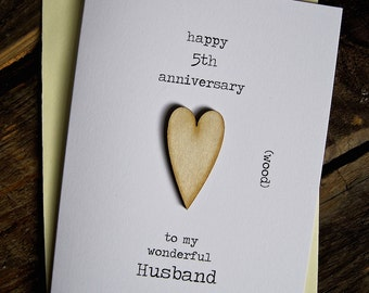 3rd Wedding Anniversary Card LEATHER Traditional by ArtBySeezal