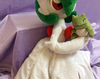 Pokemon inspired Mega Gardevoir (Mega Sirnight) (60 cm high) plushie made of minky, full poseable art doll!