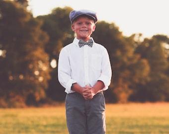 Boys Flat Cap, Herringbone Newsboy Cap, Skid Lid, Boys Dress Hat, Ringbearer Cap, Childrens Flatcap, Dapper Hat, Driving Cap, Golf Hat