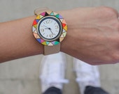 Handpainted Watches - Round -Triangles