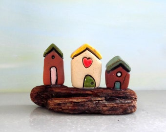 Little house home decor for the office , Home and living art miniature collectibles , Woodland fairy tale , I love you gift , Anniversary