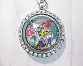 Disney Little Mermaid Floating Charm - Ariel, Prince Eric, Flounder, Sebastian and Ursula