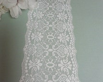 White lace table runner wedding table runner white lace wedding decoration shower party decor