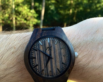 Mens Wood Watch, Engraved Wooden Watch, Gift for him, Mens Wooden Watch, Wedding Gift, Anniversary Gift, Groomsmen Gift, 5 Year Wood Gift