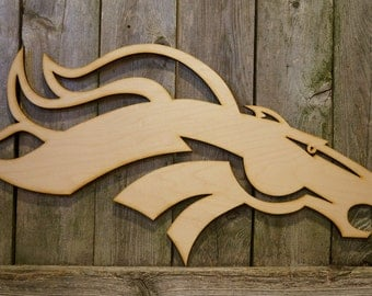 Denver Broncos logo wall hanging sign