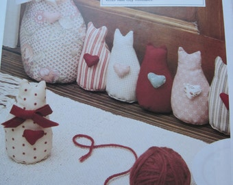 Sewing Pattern - Cozy Roommates - Stuffed Cats - Vintage