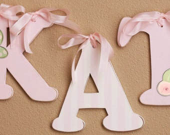 "pink letters for girls- wood wall letters for kids decor- 6"" wall letters- custom wall letters -custom name"