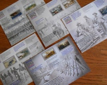 Civil War Buff Gift: Civil War Sesquecentennial Souvenir Sheets,  Ephemera Military Commemorative Civil War Campaigns, Love PBS Mercy Street