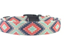 Colorful Southwestern Native American Indian Tribal Dog Collar OR Matching Leash