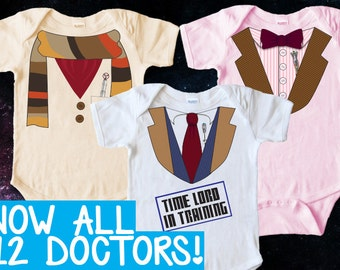 Doctor Who Baby Clothes DIY Iron on Transfer - PRINTABLE - Instant Download, Print, Iron - Dr Who Onesie / Tshirt / Baby Shower Gift  PDF