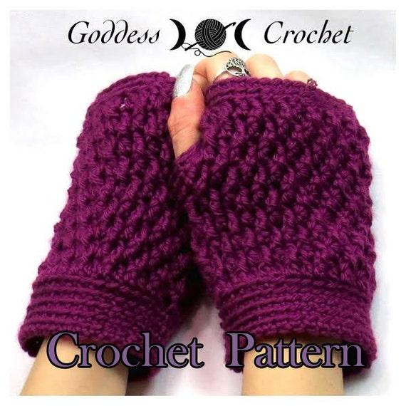 Items similar to Fingerless Gloves Crochet Pattern - Bumpy ...