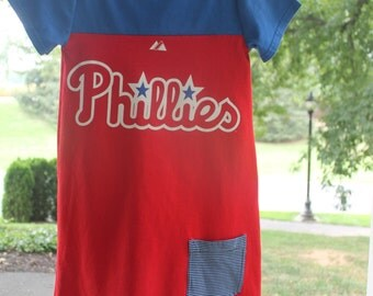 Upcycled Phillies Dress, Girl's size 8 / 10