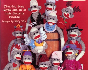 The Return of the Sock Monkey from Leisure Arts (stuffed toys) | Holly Witt | Craft Book