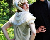 Victorian High-neck Collar Blouse (Cottage Tea Cruelty-free Silk & Cotton) xs, s, m, l, or xl