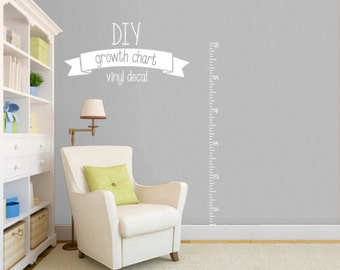 DIY Growth Chart Vinyl Decal