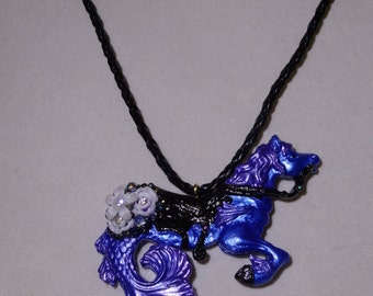 Royal Hippocampus Necklace Mermaid Horse Seahorse Jewelry Seahorse Necklace Hippocampus Jewelry Mermaid Jewelry Mermaid Necklace Fantasy