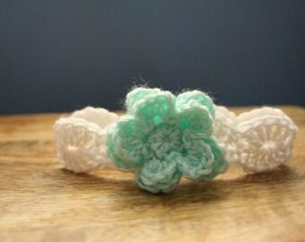 Crochet Headband, Flower Headband, Headband, Girl Headband