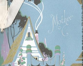 Vintage Art Deco mother greeting card cottage digital download printable image 300 dpi