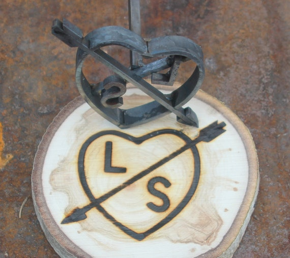 Custom Branding Iron Hand Forged Heart And Arrow With