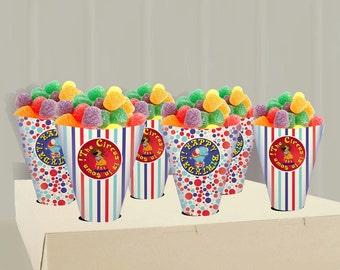 Printable Circus Party Treat cones - Instant Download