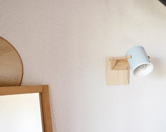 Wall lamp / sconce light ,  pastel light blue... eco friendly and handmade : recycled from tomato can !
