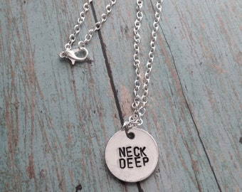 Neck Deep Hand Stamped Necklace