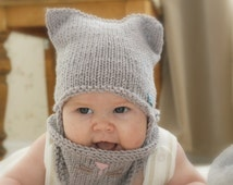 Unique knit cat hat pattern related items Etsy
