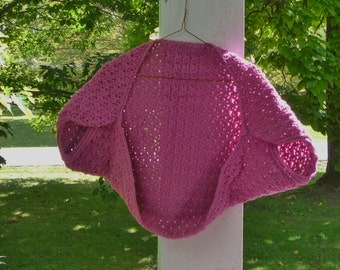 Rose Pink Shrug - Handmade Crochet