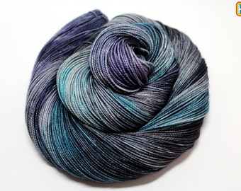 Twist Thy Fingers Toward The Sky! -DYED TO ORDER Shawl Length Yarn Skein Fingering 150g 600y 2 ply Fingering 80/20 Superwash Merino/Silk