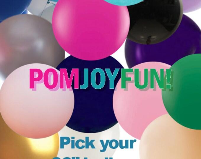 "HUGE 36"" Round Latex Balloon Latex Balloons Pick Your Color, Big Balloons, Giant Balloon, Round Balloon, Qualatex balloons"
