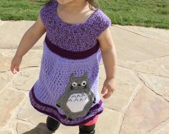 Made To Order: Totoro Dress, Crochet Dress, Playwear, Yoke Dress, Photography, Unique Gift, Baby, Toddler, Girl's