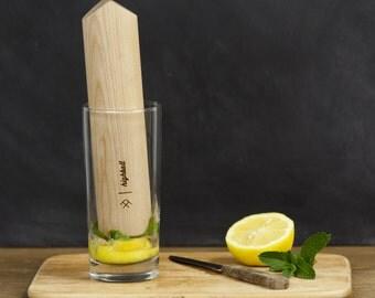 Highball Wood Cocktail Muddler //  barware, gift for him, bartender gift, groomsman gift