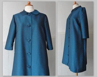 60s Vintage Coat With Peter Pan Collar // Olga Kjoler // Size 42 // Made In Denmark