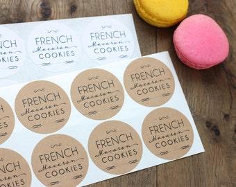 Custom Favor Bag Stickers. Wedding Favor Bag accessory. Cookie. Treat. Favor Sticker. Kraft or White