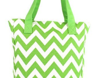Monogrammed Chevron tote bag, Bridesmaid gift, set of 6, bridesmaid bags, personalized bridesmaid bag, chevron lime bridesmaid bag, wedding