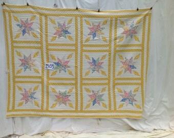 Starburst Antique Quilt  c. 1930, Virginia   # 2103